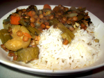 Green lentil stew with vegetables